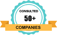 Consulted 50+ Companies